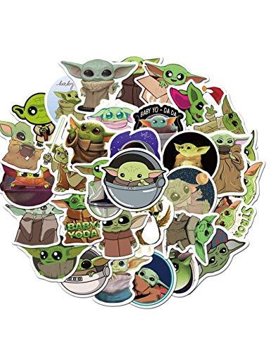 CHLD 100 Stück Baby-Yoda-Aufkleber, inklusive Mandalorianischer Aufkleber mit Yoda-Baby (Mandalorian)