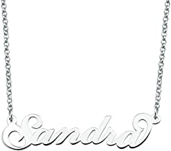 Moonlight Collections Script Necklace 949 Sterling Silver Pendant Chain Personalized Necklace Sandra