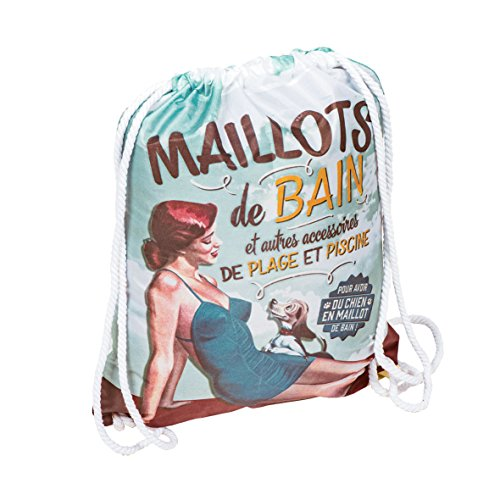 Natives 610780 Sac à Maillot de Bain, Polyester, Multicolore, 33 x 42 x 2 cm