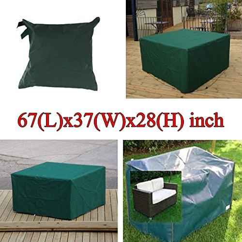 Bureze 170 x 94 x 71 cm Mobilier de jardin extérieur imperméable et respirante Dust Cover Table Shelter
