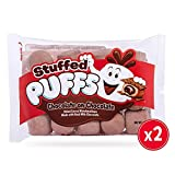 Stuffed Puffs Chocolate-on-Chocolate, Filled Cocoa Marshmallows Made with Real Chocolate, 2 bags (8.6 oz each)