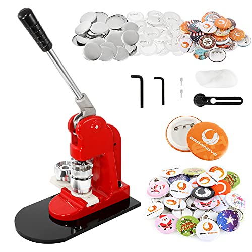 BEAMNOVA Button Maker Machine DIY Round Pin Maker Kit, 32mm / 1.26 in (About 1-1/4 Inch) Badge Press Machine with 1000 Button Parts Supplies