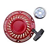 WOOSTAR Recoil Pull Starter Conjunto con taza de repuesto para generador GX120 GX140 GX160 4/5.5/6.5 HP Motor Césped Cortacésped