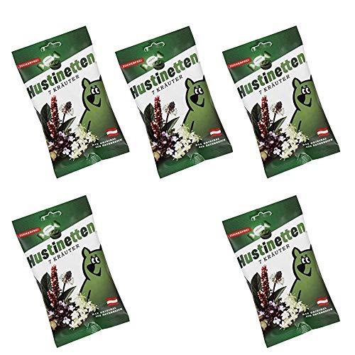 Hustinetten 7 Kräuter zuckerfrei 5x je 75g