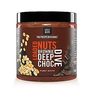 Crema De Cacahuete Loaded Nuts   Crema De Cacahuete Con Chocolate Premium   Sin Aceite De Palma   Fuente De Proteínas   Brownie Deep Choc Dive   THE PROTEIN WORKS   500 g