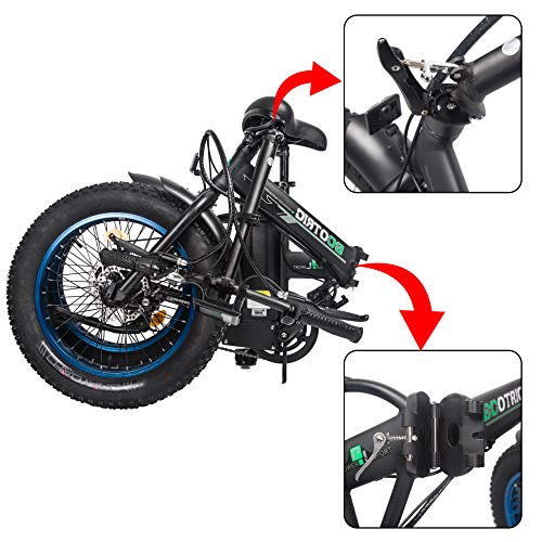 ECOTRIC Powerful Foldable Fat Tire Bike 48V 13AH Li-ion Battery 500W Motor 20' x4.0 inch Fat Tire Aluminum Frame Electric Mountain Beach Snow Electric Ebike Bicycle
