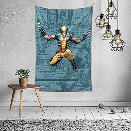WolverineTapestry - Tapiz para decorar dormitorios, salas de estar y dormitorios, 60 x 40 pulgadas, suave y duradero
