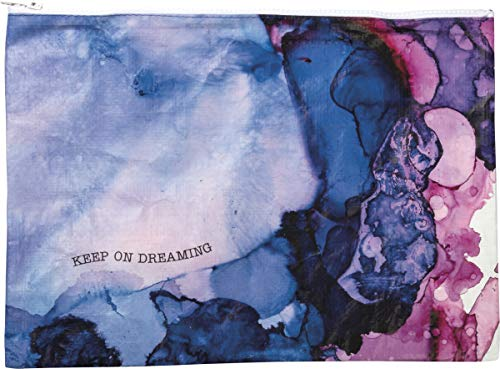 by Kathy Keep On Dreaming Zipper Folder Jumbo Pouch with Watercolor Design