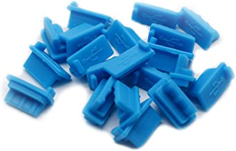 Yoohey 20pcs Silicone USB A Type Female Anti Dust Cover Plug Protector Stopper, Blue