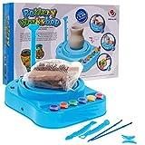 BSD Elektrische Töpferscheibe, Töpferscheibe für Kinder, Töpferwerkstatt, Töpferscheibe mit Lehm und Farben