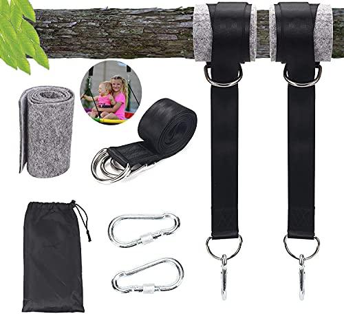 AYCA Schaukel Befestigung,Hängematte Befestigung,Aufhängung Hängesessel Befestigung für Bäume geeignet 2 x 150cm, mit 2 Schwerlast Karabinern und D-Ringen,Schaukelgurtset für den Außenbereich