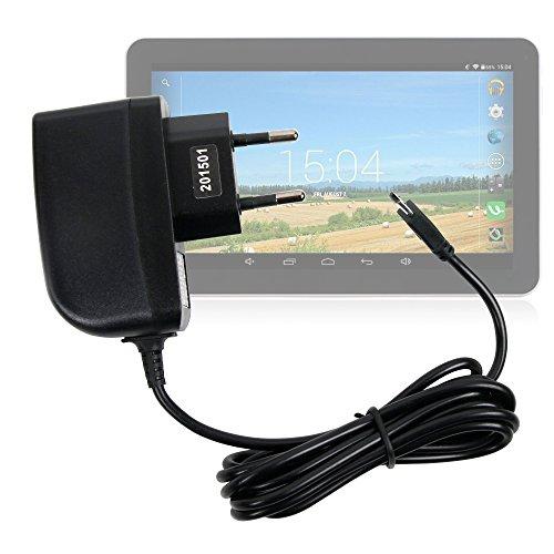 DURAGADGET Cargador (2 Amperios) para Tablet CHUWI Hi8 / Excelvan BT-MT10 / Fusion5 Xtra 10.1' / HP Slate 7 2800 - con Conexión Micro USB Y Enchufe Europeo De Pared - Certificado por La CE