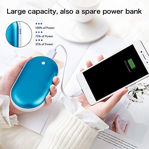Outdoor for Raynauds SkyGenius Reusable Hand Warmer 5200mAh Rechargeable Portable USB Pocket Warmer Winter