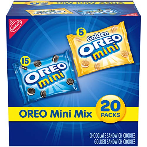 OREO Mini Mix Sandwich Cookies Variety Pack, 20 - 1 oz Packs