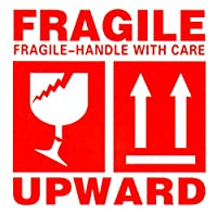 FRAGILE 壊れ物 取扱注意 ステッカー UPWARD 1シート6シール×20枚 120枚セット