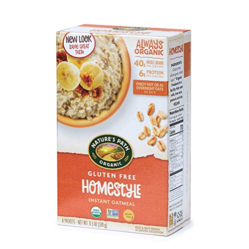 Nature#039s Path Organic Gluten Free Instant Oatmeal Homestyle 48 Packets Pack of 6 113 Oz Boxes