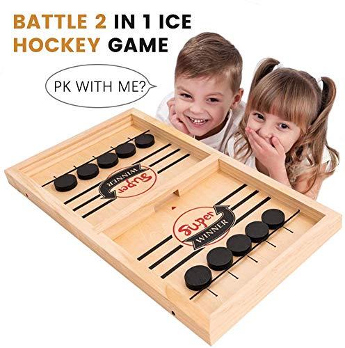HOWADE Schnelles Sling-Puck-Spiel, Katapult-Schachpuffer 2 in 1 Slingshot-Tisch Eishockey-Gewinner Brettspiel-Spielspielzeug für Eltern-Kind