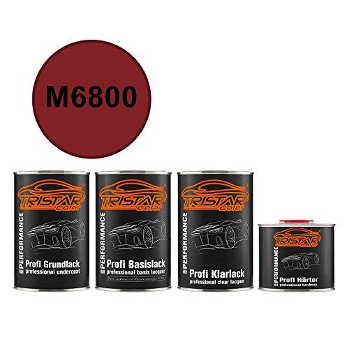 TRISTARcolor Autolack Set Dose spritzfertig für Ford/Lincoln/Mercury M6800 Toreador Red Perl Grundlack + Basislack + 2K Klarlack 3,5L