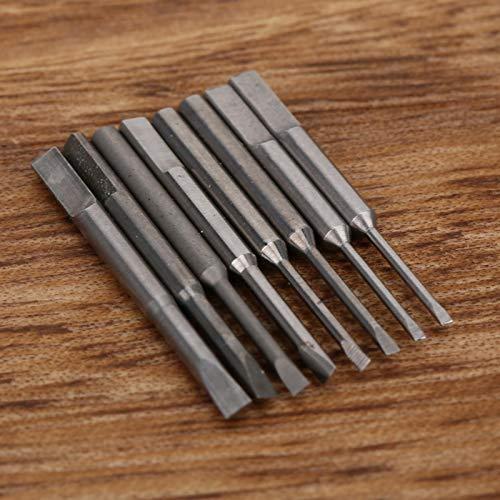 Broca de destornillador de ranura Reparación de reloj Broca de destornillador Herramientas de reparación profesionales, para reparación de herramientas electrónicas y domésticas