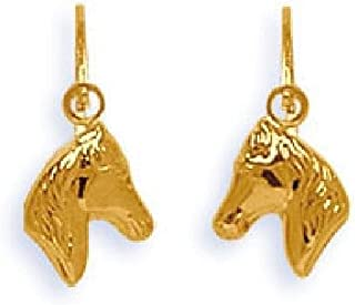 So Chic Jewels 18k Yellow Gold Dolphin Leverback Dangle Earrings