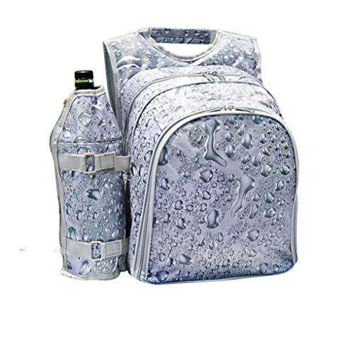 Picknickrucksack für 4 Personen Geschirr, mit Kühlfach und Campinggeschirr Wasserdicht Tragbar Picknickrucksäcke für Reise Camping