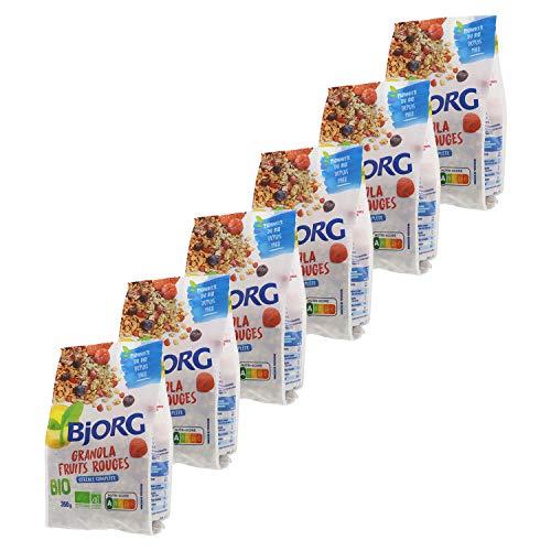 Bjorg Granola Fruits Rouges Bio - Céréale complète bio pour le petit déjeuner - 350 g - Lot de 6