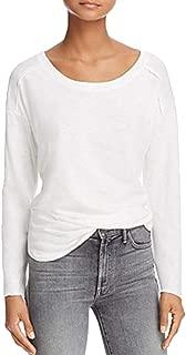 Splendid Womens Sweatshirt T-Shirt, Off-White, S