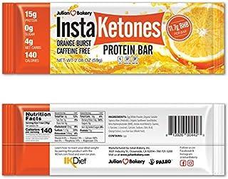 Julian Bakery InstaKetones Protein Bar   Orange Burst   Caffeine-Free   11.7g GoBHB Per Protein Bar   Exogenous Ketones   ...