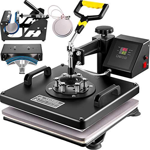 VEVOR Heat Press 15X15 Inch Heat Press Machine 5 in 1 Digital Multifunctional Sublimation T-Shirt Heat Press Machine for T Shirts Hat Mug Cap Plate