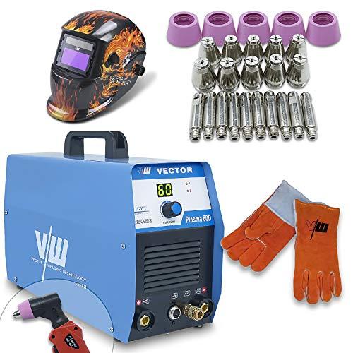 Máquina de Corte por Plasma, Máquina de Soldadura por Plasma 60 Amperios, incluido. Antorcha de Combustión de Plasma de Aluminio de Acero