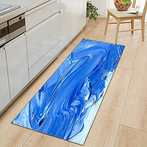 Alfombra de entrada con patrón de flores 3D para el hogar, decoración del dormitorio, pasillo, baño, alfombra antideslizante A17, 50 x 160 cm