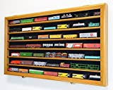 N Scale Train Model Trains Display Case Cabinet Wall Rack w/ 98% UV Lockable -Oak
