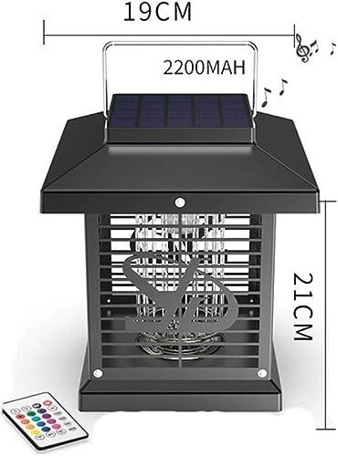 GUOYICHENG Grille Haute Tension IP67 Imperméable à l'eau De Lampe UV Imperméable Solaire De Lampe UV De Moustique De Zapper De La Lumière LED