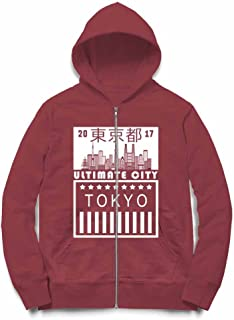 Fox Republic TOKYO JAPAN 東京 日本 バーガンディー キッズ パーカー シッパー スウェット トレーナー 110cm