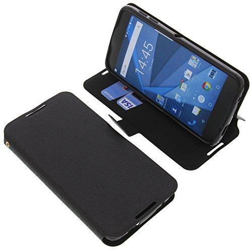 foto-kontor Tasche für BlackBerry DTEK50 Book Style schwarz Schutz Hülle Buch