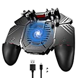"""Global-store 4 Trigger Mobile Game Controller with Cooling Fan, 4000mAh Gamepad for 4.7-6.5"""""""