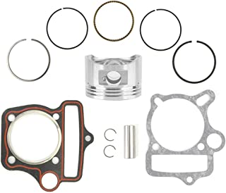 Yctze Motorcycle Piston,66cc 80cc Motorcycle Cylinder Piston Ring Gasket Kit for GT5 Motorbike