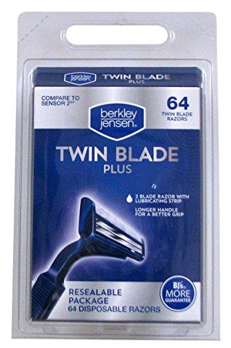 Berkley Jensen Men's Twin-Blade Disposable Razor, 64 ct. AS