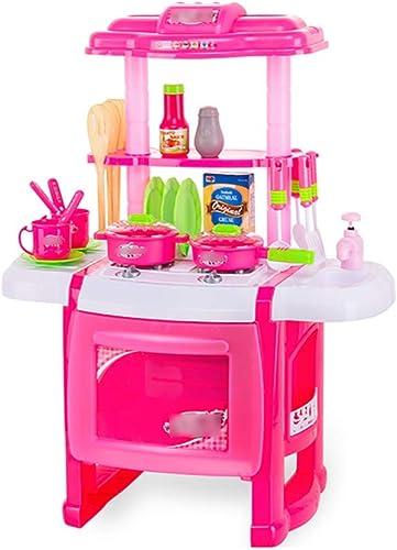 Spielzeugsets Küche Spielen Kinderküche Kochset Küche Eingerichtet mädchen Spielzeug Spielzeug Kochen Küche Spielset Spielzeug über 3 Jahre Alt Geschenk Für Kinder Spielzeugsets