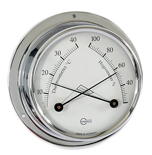 Barigo Tempo S thermomètre hygromètre chromé