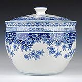 Jarrón Decorativo de Porcelana Azul y Blanco Tradicional, jarrón de...