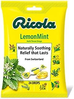 Ricola Lemon Mint Cough & Throat Drops, 24 ct, 2 pk