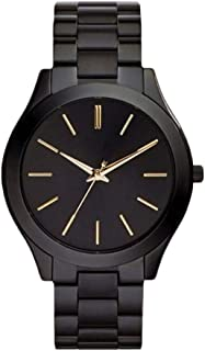 Hexiaoyi Women's Business Casual Watch Black Stainless Steel Waterproof Watch Quartz Wrist Watch (Color : Black)
