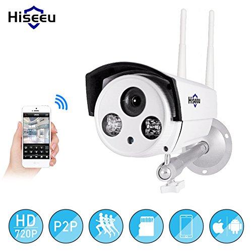 NA Hiseeu Wifi Camera Outdoor Bullet HD 720P IP Camera Waterproof Wireless CCTV Video Recorder UK plug