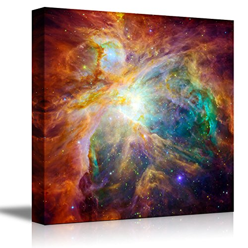 Canvas Wall Art The Cosmic Cloud Orion Nebula 1,500 Light-Years Away from Earth Beautiful Universe/Outer Space Home Decoration Stretched Gallery Canvas Wrap Giclee Print & Ready to Hang - 24' x 24'