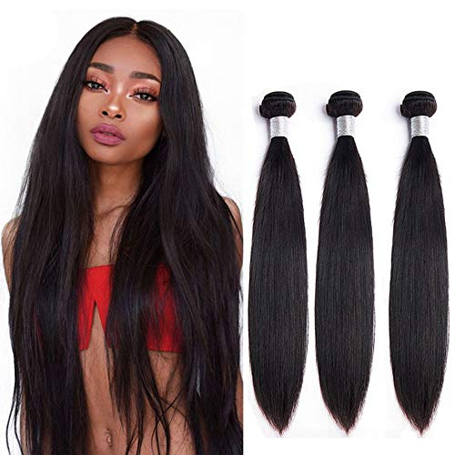 Remy Brazilian Straight Weave Bundles Von NIUDINNG Echthaar Tressen Zum Einnaehen Brazilian Hair 3 Bundles 300g Grad 7a QualitäT Farbe Schwarz 16 18 20 Zoll