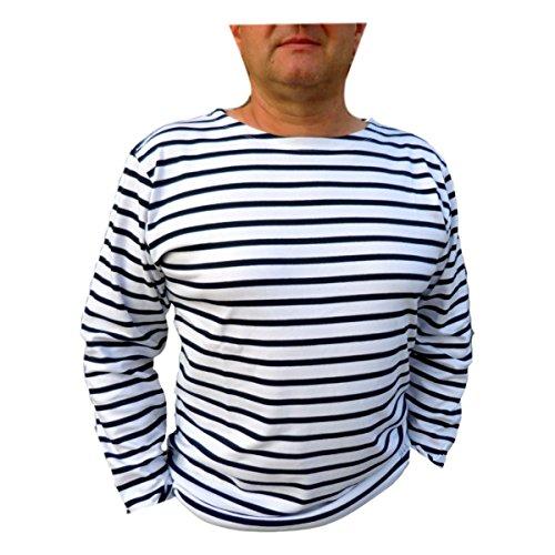 Augustin | Blusa alla Marinara XL Bianco Blu
