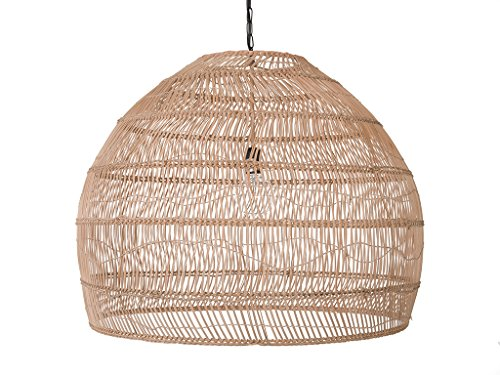 KOUBOO 1050101 Open Weave Cane Rib Bell Hanging Ceiling...