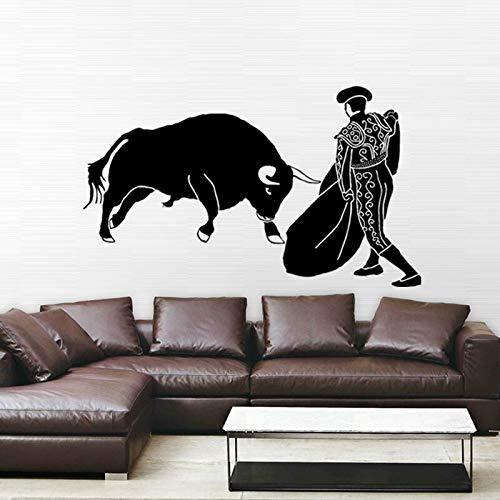 JXAA Spanische Stierkampf Hohl Geschnitzte dekorative Wandaufkleber 68,4x116,4 cm