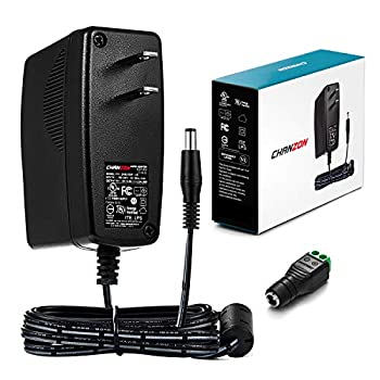 Chanzon UL Listed 12V 2A 24W AC DC Switching Power Supply Adapter  Input 100-240V Output 12 Volt 2 Amp  Wall Wart Transformer Charger for DC12V CCTV Camera LED Strip Light  6Ft Cord 24 Watt Max